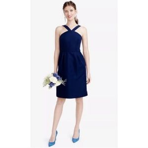 J. Crew LEXIE DRESS IN CLASSIC FAILLE - Haven Blue